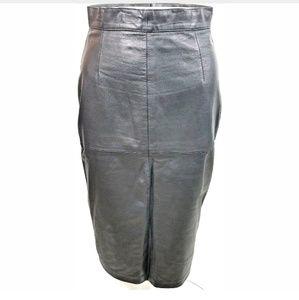 Fiori leather skirt